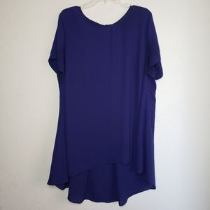 Vince Camuto navy blue high-low hem tunic top